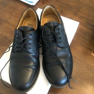 Little boys dress up leather shoes in black